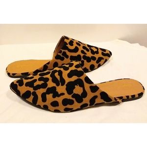 Qupid Like New Leopard Mules 10